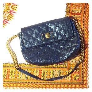 MARC JACOBS Blue Quilted Crossbody Bag